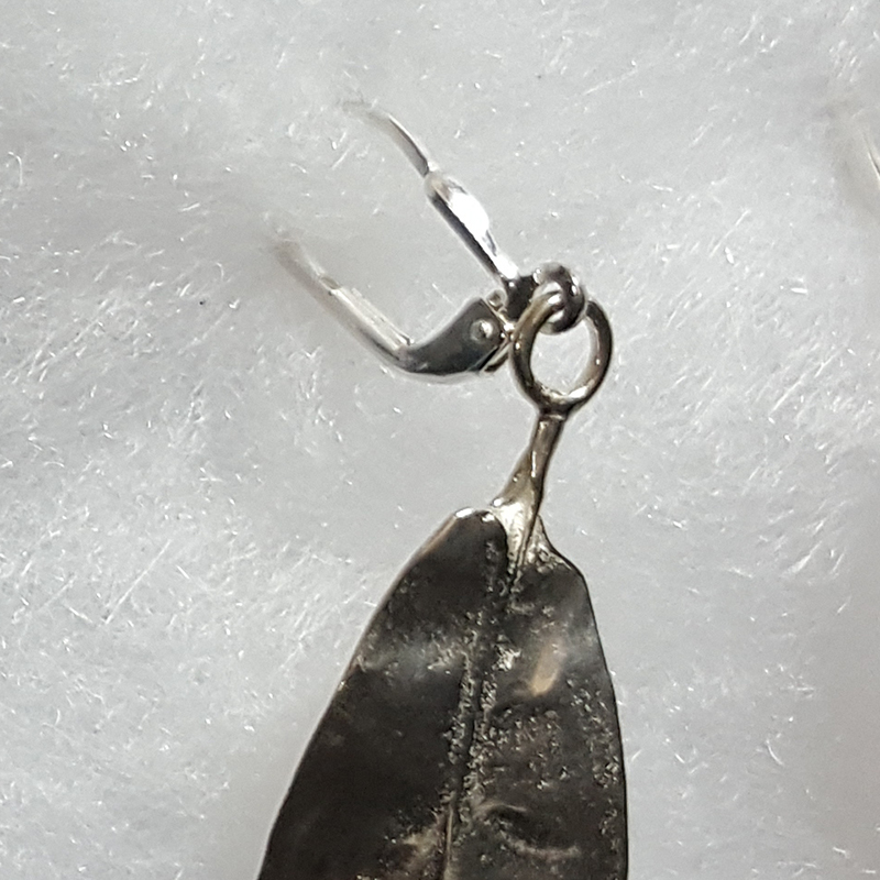 Cast Silver or Bronze Tea Leaf