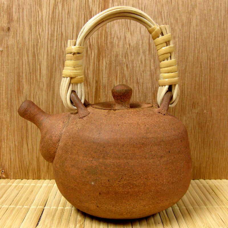 Rattan-Handled Teapot by Mark Mohler